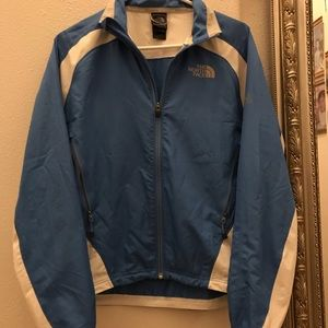 Women's the north face blue zip up jacket
